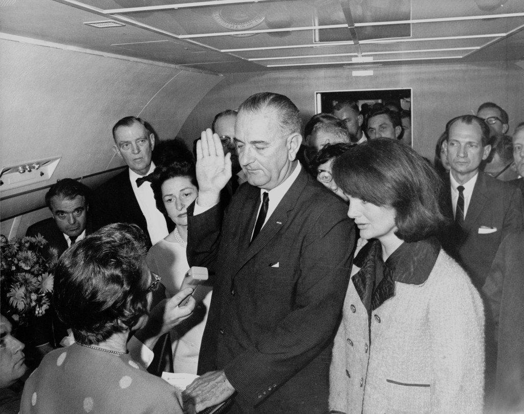 Lyndon_B._Johnson_taking_the_oath_of_office,_November_1963 copy