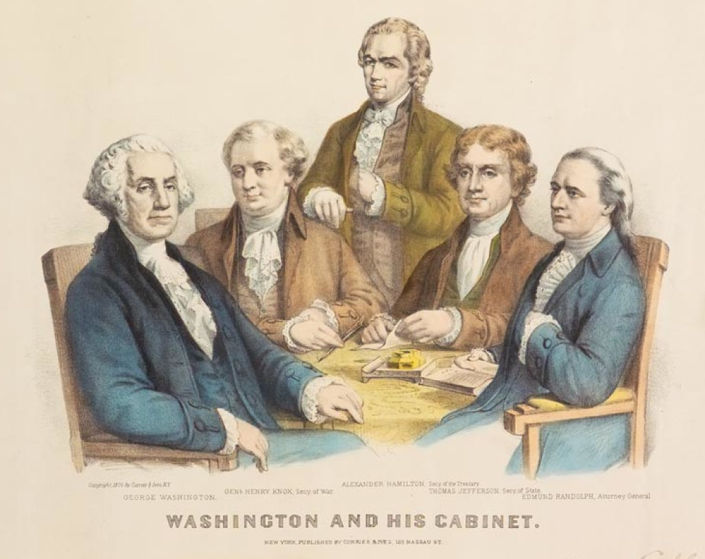 washington-and-his-cabinet-by-currier-ives