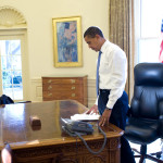Obama first full day in Oval Office