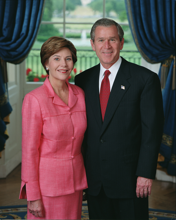 Authoritative George w and laura bush about